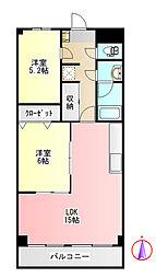 ピア34[3階]の間取り