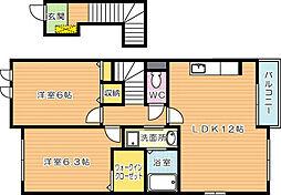 クラリオンヒルズ[2階]の間取り