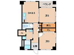 小松原マンション[4階]の間取り