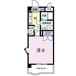エトワール S K[205号室]の間取り
