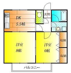 ラピスハイツ[2階]の間取り