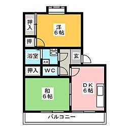 ピュアライム[2階]の間取り