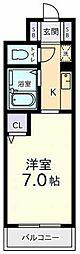 東京都国立市西2の賃貸マンションの間取り