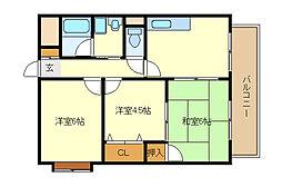 TOMIKURAIII[2階]の間取り