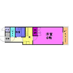 シャンテ三船II[5階]の間取り