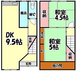 [テラスハウス] 大阪府泉大津市森町1丁目 の賃貸【/】の間取り