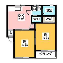 サンコーポNO.4[1階]の間取り