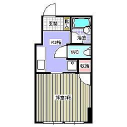 コーポ渡部[2階]の間取り