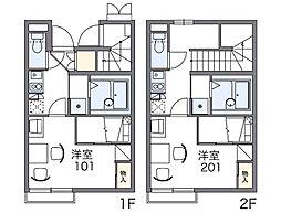 レオパレスヨシクマ[1階]の間取り