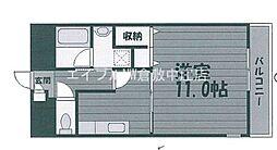 JR山陽本線 中庄駅 徒歩4分の賃貸マンション 2階1Kの間取り