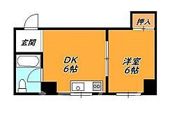 大阪府大阪市西成区天神ノ森1丁目の賃貸マンションの間取り