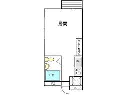 ウイング散田町[4階]の間取り