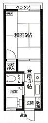 埼玉県春日部市中央5丁目の賃貸アパートの間取り