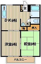 東京都府中市本町3丁目の賃貸アパートの間取り