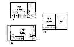 [テラスハウス] 神奈川県相模原市中央区弥栄2丁目 の賃貸【/】の間取り