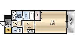 Osaka Metro谷町線 関目高殿駅 徒歩5分の賃貸マンション 6階1Kの間取り
