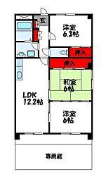 プレジオ篠栗II[1階]の間取り