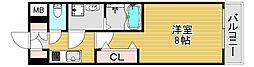 レジデンス大阪福島フォルテ 3階1Kの間取り