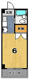 ソワリエマエグチ[4階]の間取り
