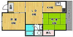 長谷川マンション[1階]の間取り