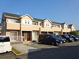 福岡県八女市吉田の賃貸アパートの外観