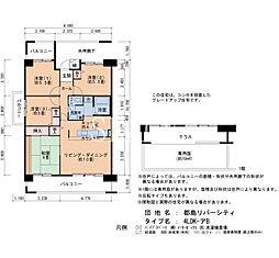 Osaka Metro谷町線 千林大宮駅 徒歩30分の賃貸マンション 3階4LDKの間取り