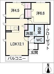 サミットI棟[1階]の間取り