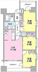 パークフラッツ横濱公園[9階]の間取り
