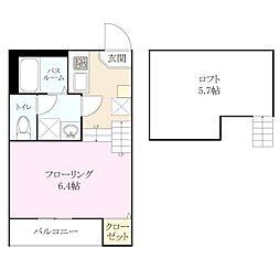 梅林2丁目 新築アパート[2階]の間取り