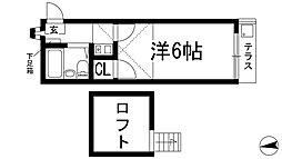 マンショントニオー能勢口第2[1階]の間取り