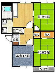 フレグランス萩[2階]の間取り