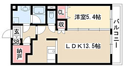 愛知県名古屋市緑区定納山2丁目の賃貸マンションの間取り