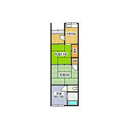 [一戸建] 大阪府東大阪市近江堂2丁目 の賃貸【/】の間取り