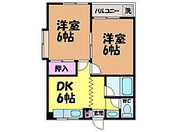愛媛県松山市西石井3丁目の賃貸マンションの間取り
