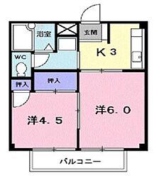 サカエハイツ[2階]の間取り
