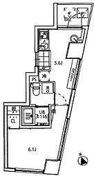 クーカイテラス白金高輪  Kukai Terrace 白金高輪[3階]の間取り