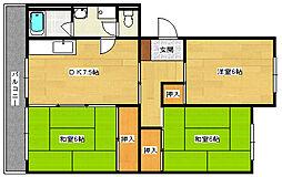 府中三宅マンション[402号室]の間取り