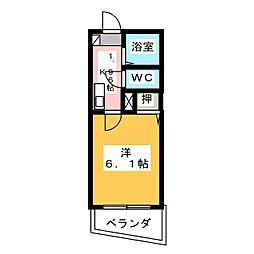 愛知県名古屋市中村区香取町2丁目の賃貸マンションの間取り