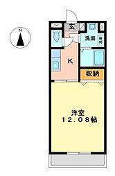 栃木県宇都宮市御幸町の賃貸マンションの間取り