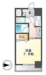 AXIS桜通内山[11階]の間取り
