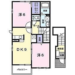 オカムラ 弐番館[0201号室]の間取り