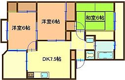 飯山マンション[307号室]の間取り
