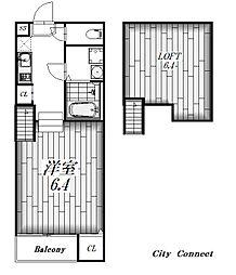 リブラ金山[1階]の間取り