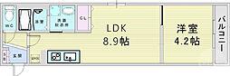 DOAHN加島 3階1LDKの間取り