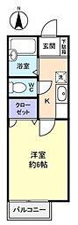 エースメゾン3[2階]の間取り