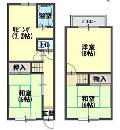 北斗町貸家 1階3DKの間取り