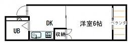 広島県広島市南区宇品神田5丁目の賃貸マンションの間取り