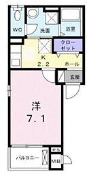 メゾンー6[3階]の間取り