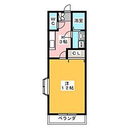 ナミヅカハイツ[1階]の間取り