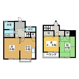 [テラスハウス] 愛知県一宮市三ツ井5丁目 の賃貸【愛知県 / 一宮市】の間取り